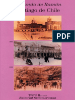 Armando de Ramón -Santiago de Chile. Historia de una sociedad urbana