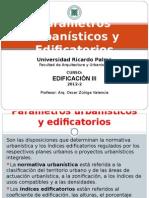 URP - Parámetros Urbanísticos y Edificatorios