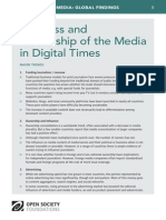 Business and Ownership of the Media in Digital Times - Mapping Digital Media Global Findings