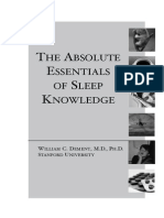 The Absolute Essentials of Sleep Knowledge (Mini Book)