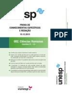 UNESP Geografia 2014 2ª fase