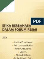 Etika Berbahasa Dalam Forum Resmi