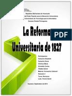 Reforma Universitaria de 1827