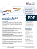 Checkpoint Application Control Data Sheet