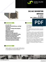 Data Sheet Inverter INV222 48VDC
