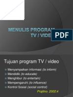 Menulis Program TV