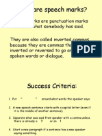 speech marks grammar lesson