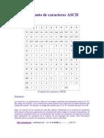 Conjunto de Caracteres ASCII