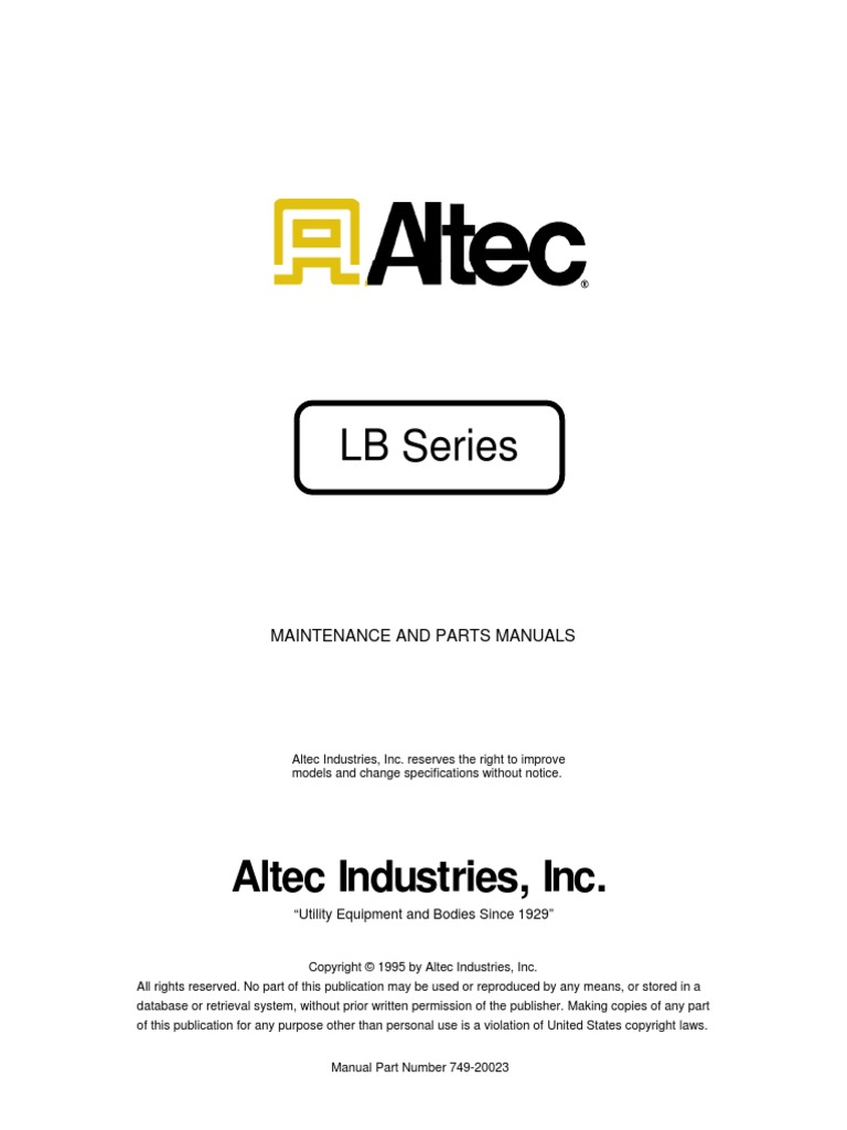 Linebacker M Viscosity Petroleum Altec Hydraulic Lift Diagram For Wiring