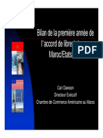 Bilan Accord de Libre-echange Maroc Etats-Unis