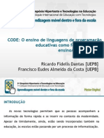 CODE Poster Digital Simposio Hipertexto2013