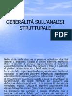 Generalità sulla analisi strutturale