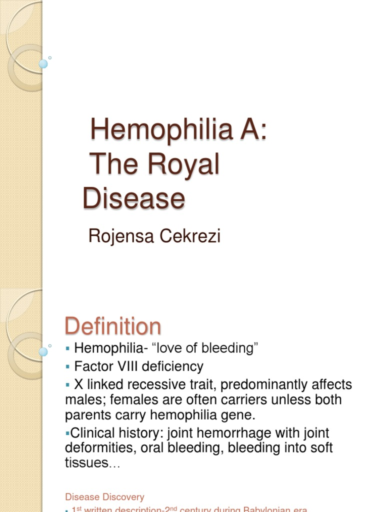 an overview of the recessive disease haemohphilia