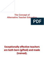 The Concept of Alternative Teaching Methods