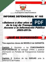 Informe Defensorial 165 2