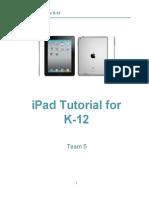 EDIT 705 Instructional Design Document iPad Tutorial
