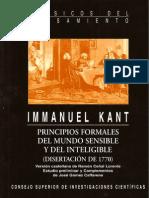 Disertación de 1770