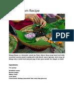 Miang Kham Recipe