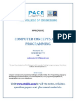 Computer Concepts and C Programming Unit 12310CCP13 by Sushma Shetty (Www.vtulife.com).PDF