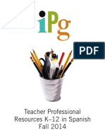 Fall 2014 IPG Teacher Professional Resources in Spanish
