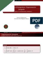 02 Trigonometric Integrals - Handout