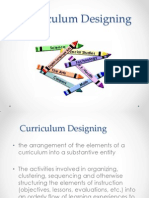 My Report Curriculum Designing
