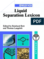 Solid Liquid Separation Lexicon