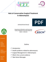 Role of Conservative Surgery in Adenomyosis