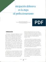 Anticipación Defensiva en La Etapa de Perfeccionamiento. JUAN ANTONIO GARCIA HERRERO