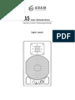 Adam A5 Manual
