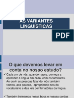 As Variantes Linguisticas