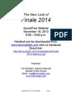 Finale 2014 Webinar