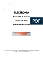 Manual Aquecedor Quartzo Electronia QH-1800C - 3126402