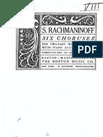 Rachmaninoff 6 Choruses (Angel)