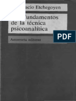 Fundamentos de la técnica psicoanalítica (OCR)