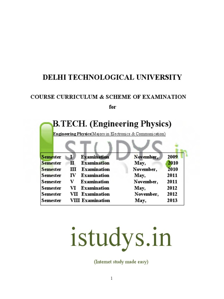 DTU EP Syllabus Pdf Nuclear Physics