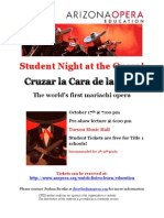 Student Night at the Opera Flyer