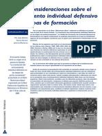 Entrenamiento Individual Defensivo en La Formación. JUAN ANTONIO GARCIA HERRERO