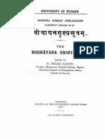 Bodhayana Grihya Sutra