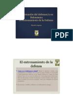 La Formación Del Defensor. Entrenamiento de La Defensa. MANOLO LAGUNA