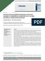 2013 Presencia de Puntos Gatillo Miofasciales y Discinesia Escapular en Nadadores de Competición Con o Sin Dolor de Hombro