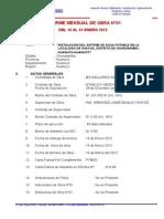 Informe Supervsior N°01 ENERO AGUA SHACUA