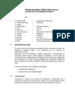 Silabo Teleco 2 - UNPRG