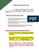 MATRICULAS 2014-3
