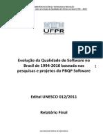 Evolução Da Qualidade de Software No Brasil de 1994- 2010