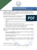 Presupuesto 2014 Uno