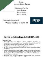 Perez v. Mendoza