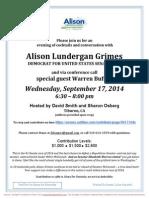 Cocktails & Conversation  for Alison Lundergan Grimes for Senate