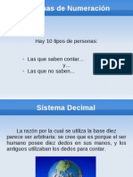 Clase SistemasDeNumeracion