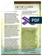 the art of gandy newsletter vol 1 issue 1 oct 2014 love does not hurt
